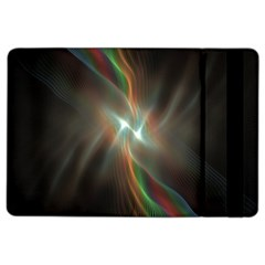 Colorful Waves With Lights Abstract Multicolor Waves With Bright Lights Background Ipad Air 2 Flip