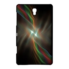 Colorful Waves With Lights Abstract Multicolor Waves With Bright Lights Background Samsung Galaxy Tab S (8 4 ) Hardshell Case