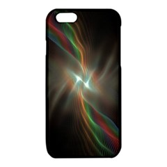 Colorful Waves With Lights Abstract Multicolor Waves With Bright Lights Background iPhone 6/6S TPU Case