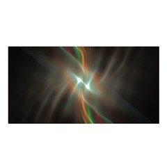 Colorful Waves With Lights Abstract Multicolor Waves With Bright Lights Background Satin Shawl