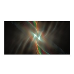 Colorful Waves With Lights Abstract Multicolor Waves With Bright Lights Background Satin Wrap