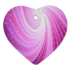 Vortexglow Abstract Background Wallpaper Ornament (Heart)