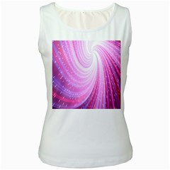 Vortexglow Abstract Background Wallpaper Women s White Tank Top
