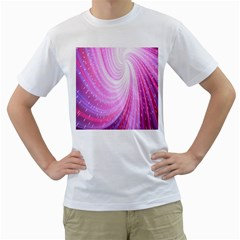 Vortexglow Abstract Background Wallpaper Men s T Shirt (white) (two Sided)