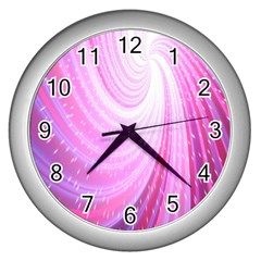Vortexglow Abstract Background Wallpaper Wall Clocks (silver)