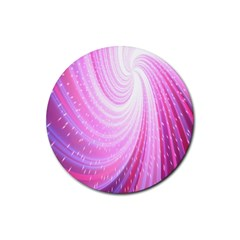Vortexglow Abstract Background Wallpaper Rubber Round Coaster (4 pack)
