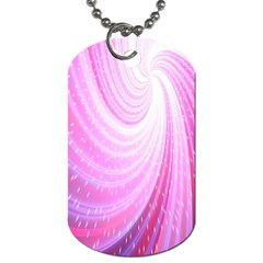 Vortexglow Abstract Background Wallpaper Dog Tag (One Side)