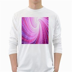 Vortexglow Abstract Background Wallpaper White Long Sleeve T-Shirts
