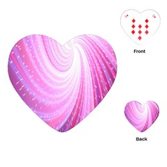 Vortexglow Abstract Background Wallpaper Playing Cards (heart)