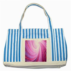 Vortexglow Abstract Background Wallpaper Striped Blue Tote Bag