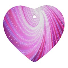 Vortexglow Abstract Background Wallpaper Heart Ornament (Two Sides)