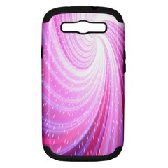 Vortexglow Abstract Background Wallpaper Samsung Galaxy S III Hardshell Case (PC+Silicone)