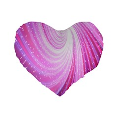 Vortexglow Abstract Background Wallpaper Standard 16  Premium Heart Shape Cushions
