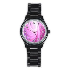 Vortexglow Abstract Background Wallpaper Stainless Steel Round Watch