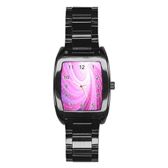 Vortexglow Abstract Background Wallpaper Stainless Steel Barrel Watch