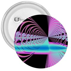 Blue And Pink Swirls And Circles Fractal 3  Buttons