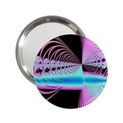 Blue And Pink Swirls And Circles Fractal 2 25  Handbag Mirrors