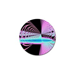 Blue And Pink Swirls And Circles Fractal Golf Ball Marker (4 pack)