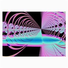 Blue And Pink Swirls And Circles Fractal Large Glasses Cloth