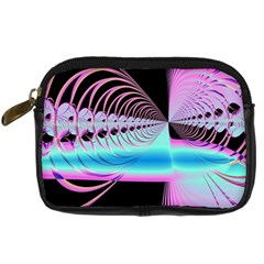 Blue And Pink Swirls And Circles Fractal Digital Camera Cases