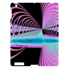 Blue And Pink Swirls And Circles Fractal Apple iPad 3/4 Hardshell Case