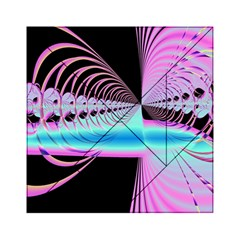 Blue And Pink Swirls And Circles Fractal Acrylic Tangram Puzzle (6  x 6 )