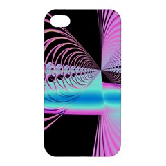 Blue And Pink Swirls And Circles Fractal Apple iPhone 4/4S Premium Hardshell Case