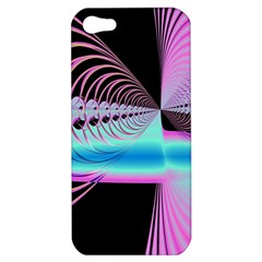 Blue And Pink Swirls And Circles Fractal Apple iPhone 5 Hardshell Case