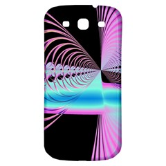 Blue And Pink Swirls And Circles Fractal Samsung Galaxy S3 S Iii Classic Hardshell Back Case