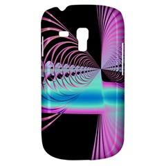 Blue And Pink Swirls And Circles Fractal Galaxy S3 Mini