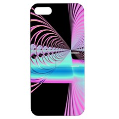 Blue And Pink Swirls And Circles Fractal Apple iPhone 5 Hardshell Case with Stand