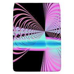 Blue And Pink Swirls And Circles Fractal Flap Covers (L)