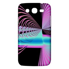 Blue And Pink Swirls And Circles Fractal Samsung Galaxy Mega 5.8 I9152 Hardshell Case