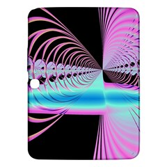Blue And Pink Swirls And Circles Fractal Samsung Galaxy Tab 3 (10.1 ) P5200 Hardshell Case