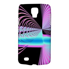 Blue And Pink Swirls And Circles Fractal Galaxy S4 Active