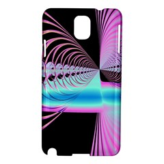 Blue And Pink Swirls And Circles Fractal Samsung Galaxy Note 3 N9005 Hardshell Case