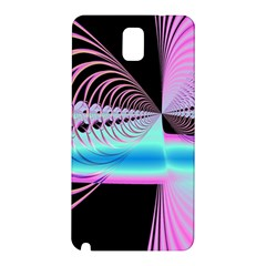 Blue And Pink Swirls And Circles Fractal Samsung Galaxy Note 3 N9005 Hardshell Back Case