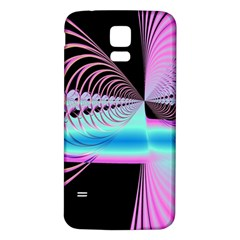 Blue And Pink Swirls And Circles Fractal Samsung Galaxy S5 Back Case (White)