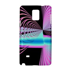 Blue And Pink Swirls And Circles Fractal Samsung Galaxy Note 4 Hardshell Case