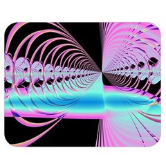Blue And Pink Swirls And Circles Fractal Double Sided Flano Blanket (medium)