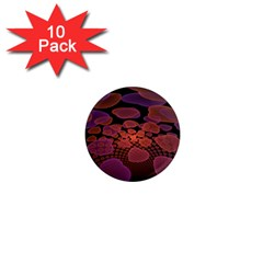 Heart Invasion Background Image With Many Hearts 1  Mini Magnet (10 Pack)