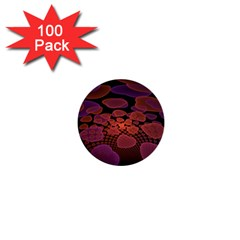 Heart Invasion Background Image With Many Hearts 1  Mini Buttons (100 Pack)