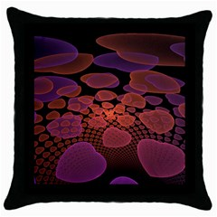Heart Invasion Background Image With Many Hearts Throw Pillow Case (black)