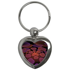 Heart Invasion Background Image With Many Hearts Key Chains (Heart)