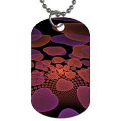 Heart Invasion Background Image With Many Hearts Dog Tag (two Sides)