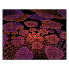 Heart Invasion Background Image With Many Hearts Rectangular Jigsaw Puzzl