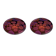 Heart Invasion Background Image With Many Hearts Cufflinks (oval)