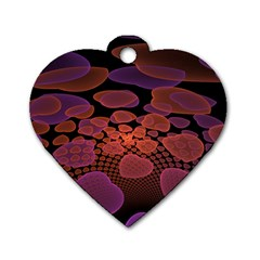 Heart Invasion Background Image With Many Hearts Dog Tag Heart (two Sides)