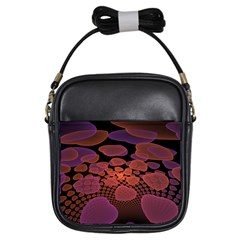 Heart Invasion Background Image With Many Hearts Girls Sling Bags