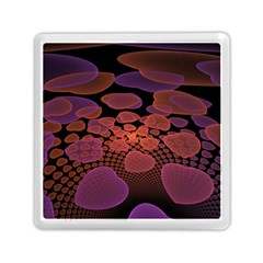 Heart Invasion Background Image With Many Hearts Memory Card Reader (square)